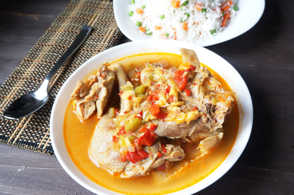 SPICY _ chicken _ pepper - soup - sinus - clear - hard - tough - african - recipe - rice - peas - carrot - spicy - hot - pot - ginger - gralic - ata rodo