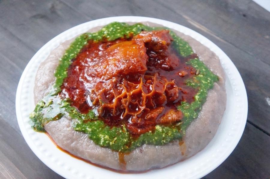 a plate of amala
