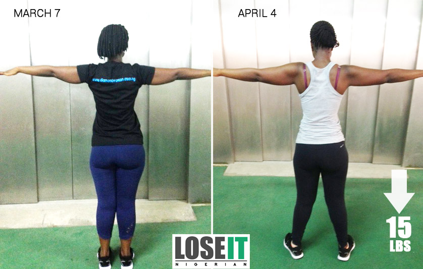 Our next runner up for the challenge also did an amazing job; she lost a  total of 5.5kg (12 pounds) in 30 days.