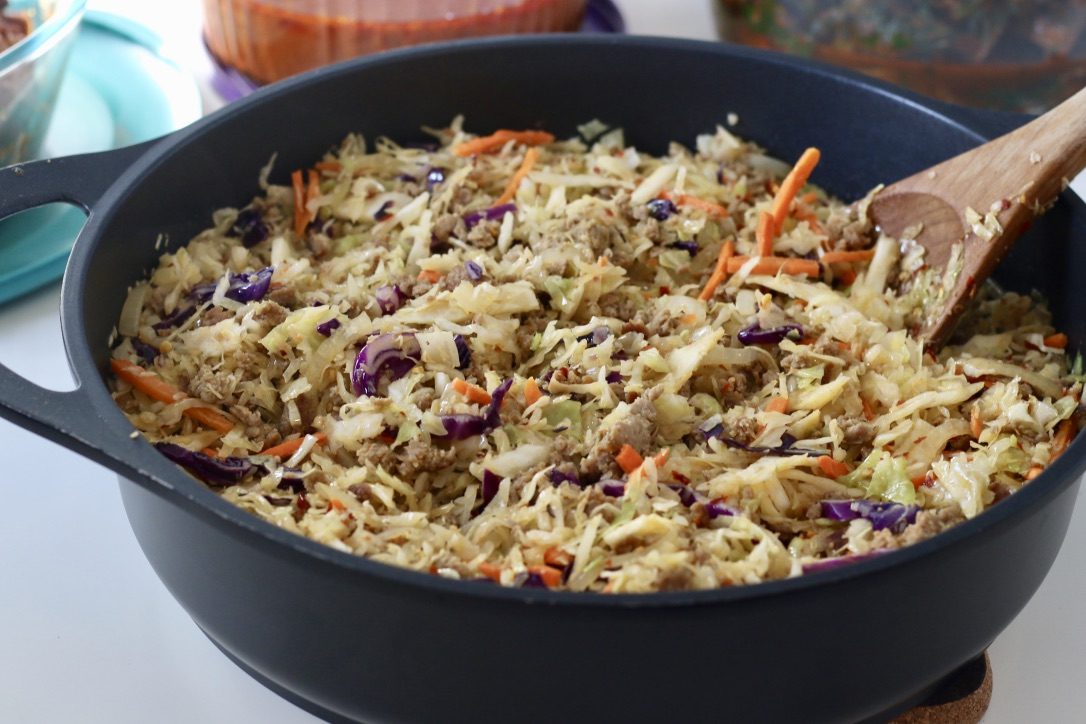 Fried Slaw - Low Carb Meal