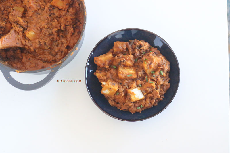 Beans and Yam Pottage